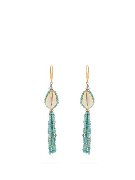Isabel Marant tassel earrings green jewels