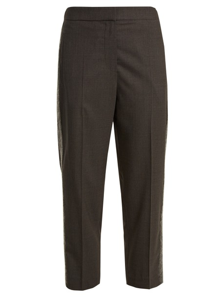 BRUNELLO CUCINELLI cropped wool grey pants