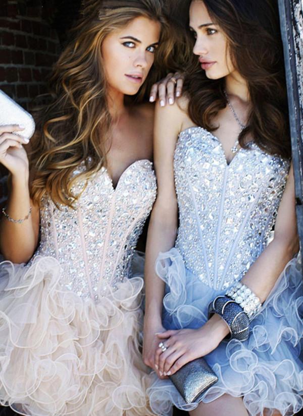 mini dress cocktail dress ruffle dress sherri hill brand dress 2014 dress hot dress 2014 dresses brand dress 2014 strapless dress dress