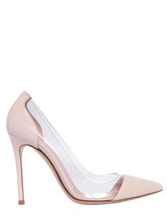 pumps leather blush shoes