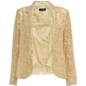 jacket serena van der woodsen gold sequins gold blazer