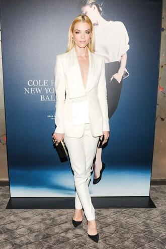 pants blazer jaime king white suit shoes