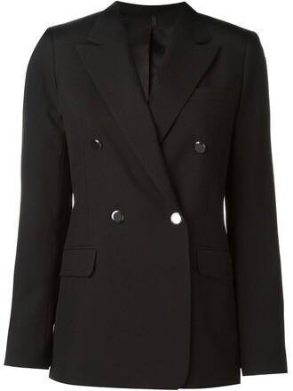 blazer double breasted black jacket