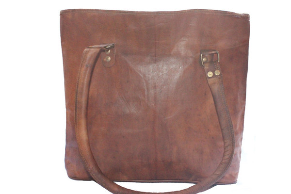 Genuine leather ladies tote