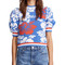 Msgm short sleeve terry floral top
