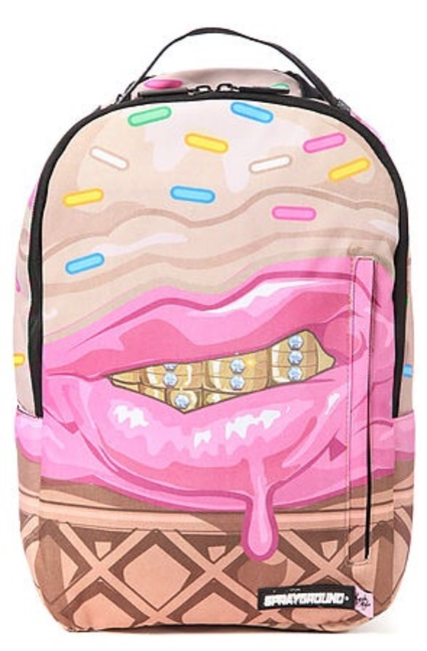 bag ice cream ice cream grillz sprayground sprinkes waffles dope wishlist cupcake mafia backpack