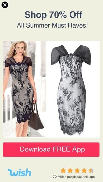 dress sheer patterned dress black and grey