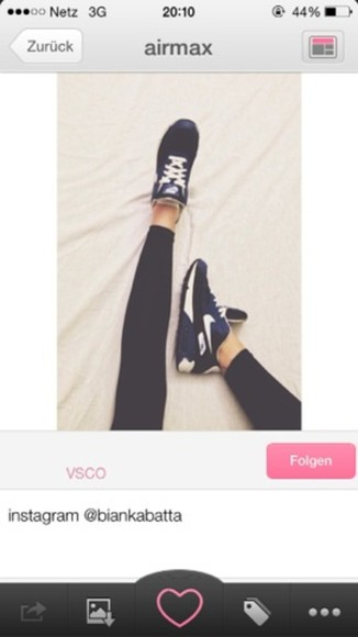 fashion is a playground white shoes nike air max beautiful cute lovely color blue black clothes sportswear
