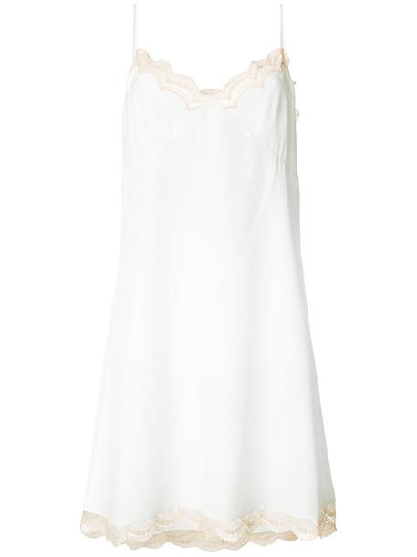dress slip dress women lace white silk