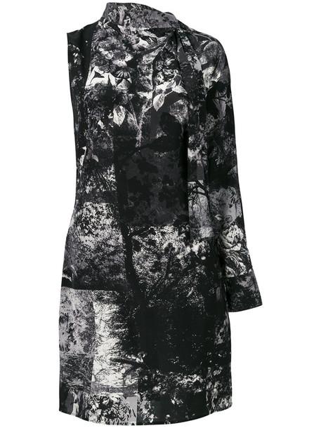 A.F.VANDEVORST dress one shoulder dress women spandex silk grey
