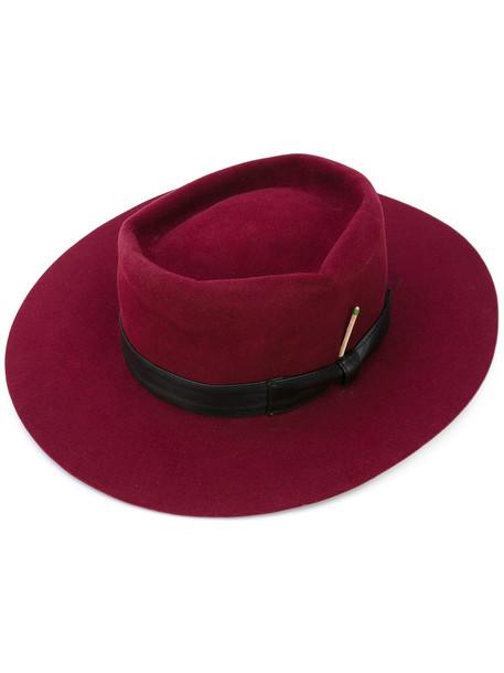 bow hat purple pink