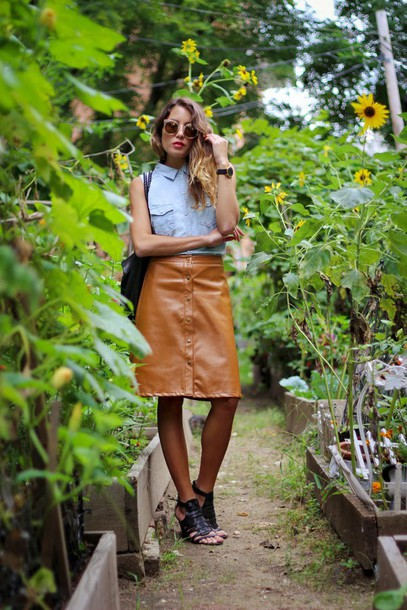 the marcy stop blogger skirt sunglasses bag jewels shoes