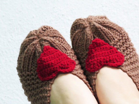 brown dress fashion shoes socks shoes winter slippers slipper like slippers boots slipper boots shoes heart hearts red dress red lovely womens accessories winter outfits winterwear