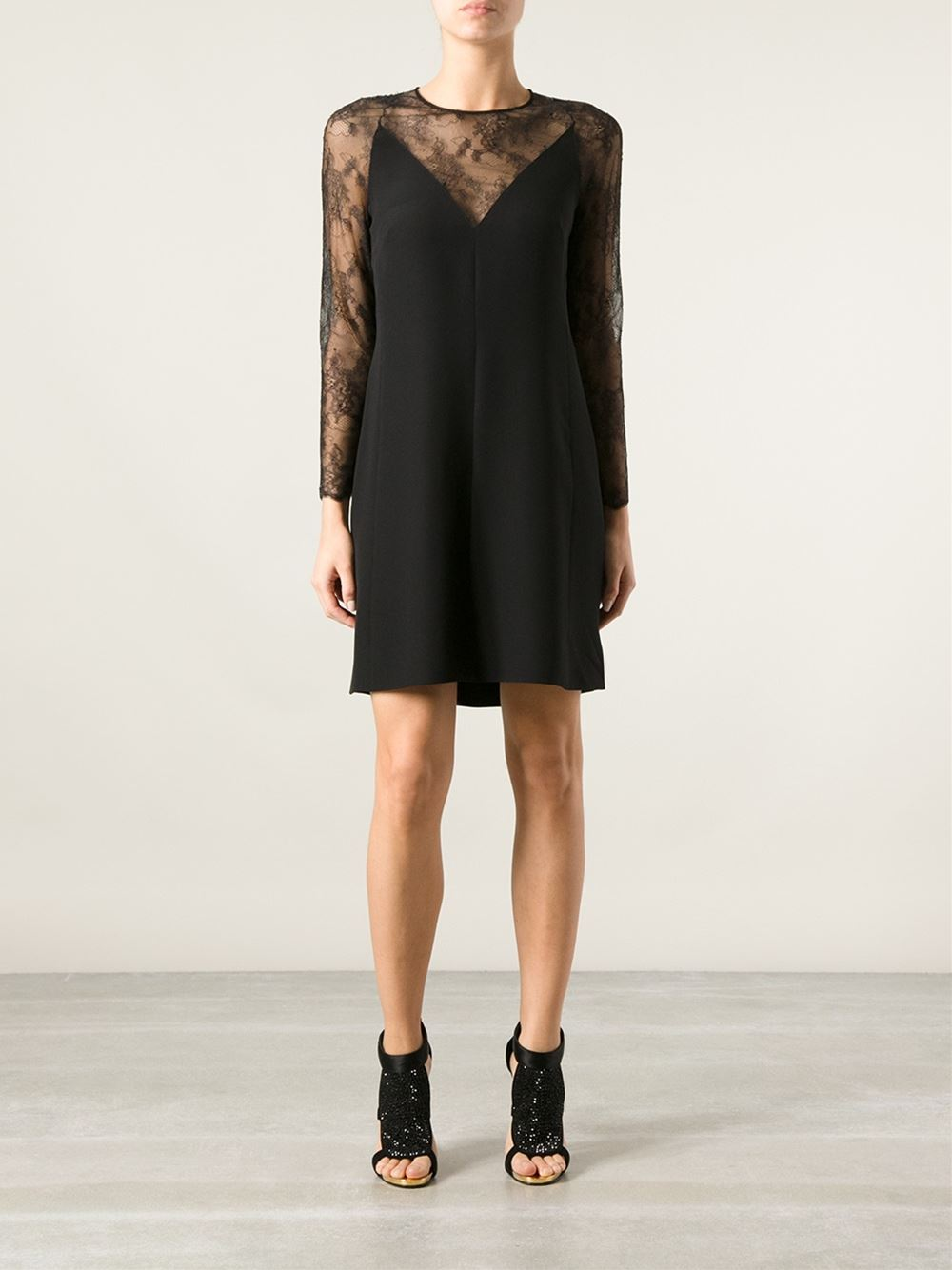 Valentino Lace Panel Dress - Spinnaker 141 - Farfetch.com