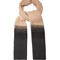 Contrast-panel cashmere scarf