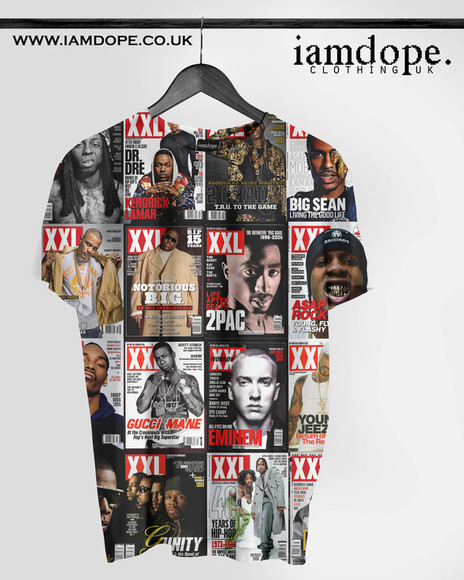 swag dope t-shirt Tshirt allover allover print dope shirt swagger hiphop rapper hot topic 2pac gucci mane eminem eminem tshirt big sean 2 chainz