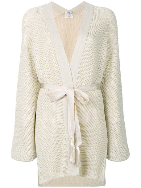 Forte Forte cardigan cardigan long women nude cotton sweater