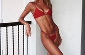 swimwear,red,swimwear two piece,red underwear,red bottoms,love,summer top,summer outfits,summer