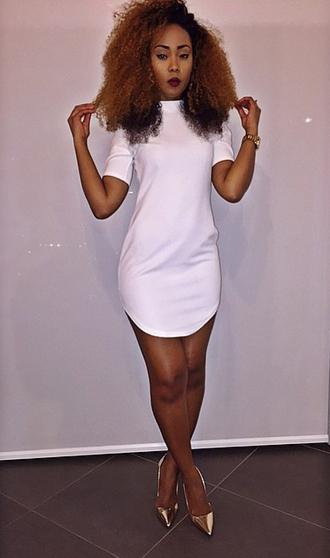 dress white white dress short dress mini dress fashion ootd ootn cocktail dress xs shirt dress cocktail