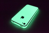 phone cover,glow in the dark,iphone case,iphone cover,cover,green,light,night,iphone,4s