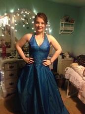 dress,royal blue deep v top,v neck dress,jovani prom dress,jovani gown