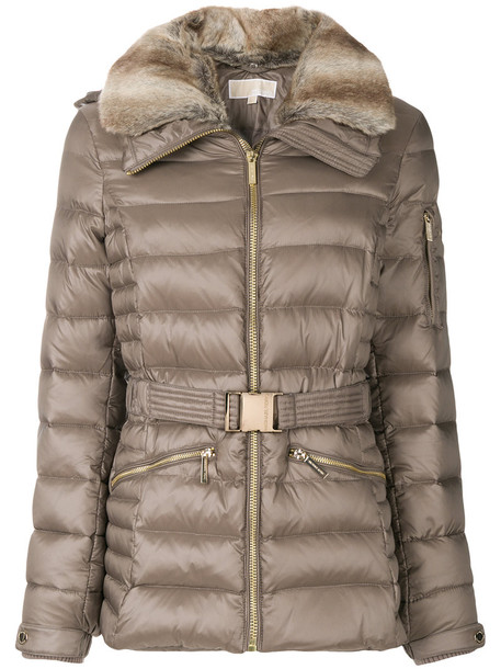 MICHAEL Michael Kors jacket fur faux fur women quilted nude