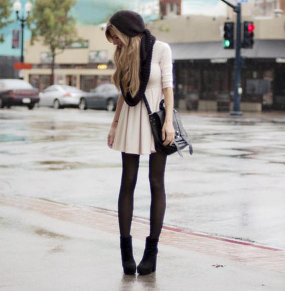 white dress long sleeve dress winter dress winterwear winter outfits winter clothes lovely dress