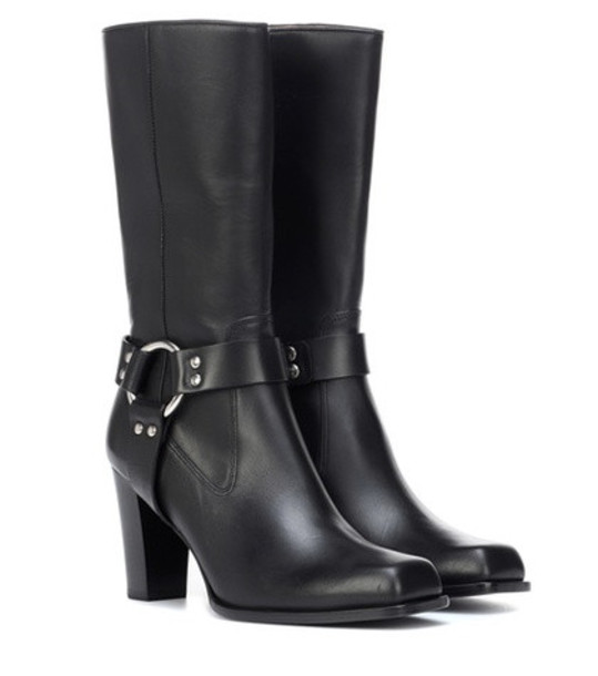 Altuzarra Lucy Harness leather boots in black