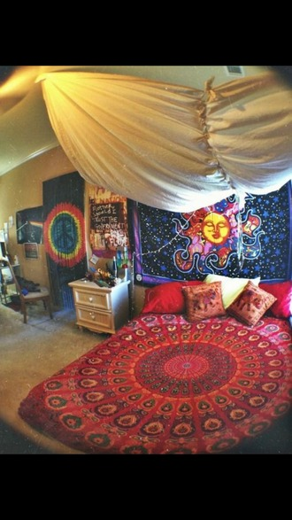 home accessory tapestry bedding home decor hippie boho trippy