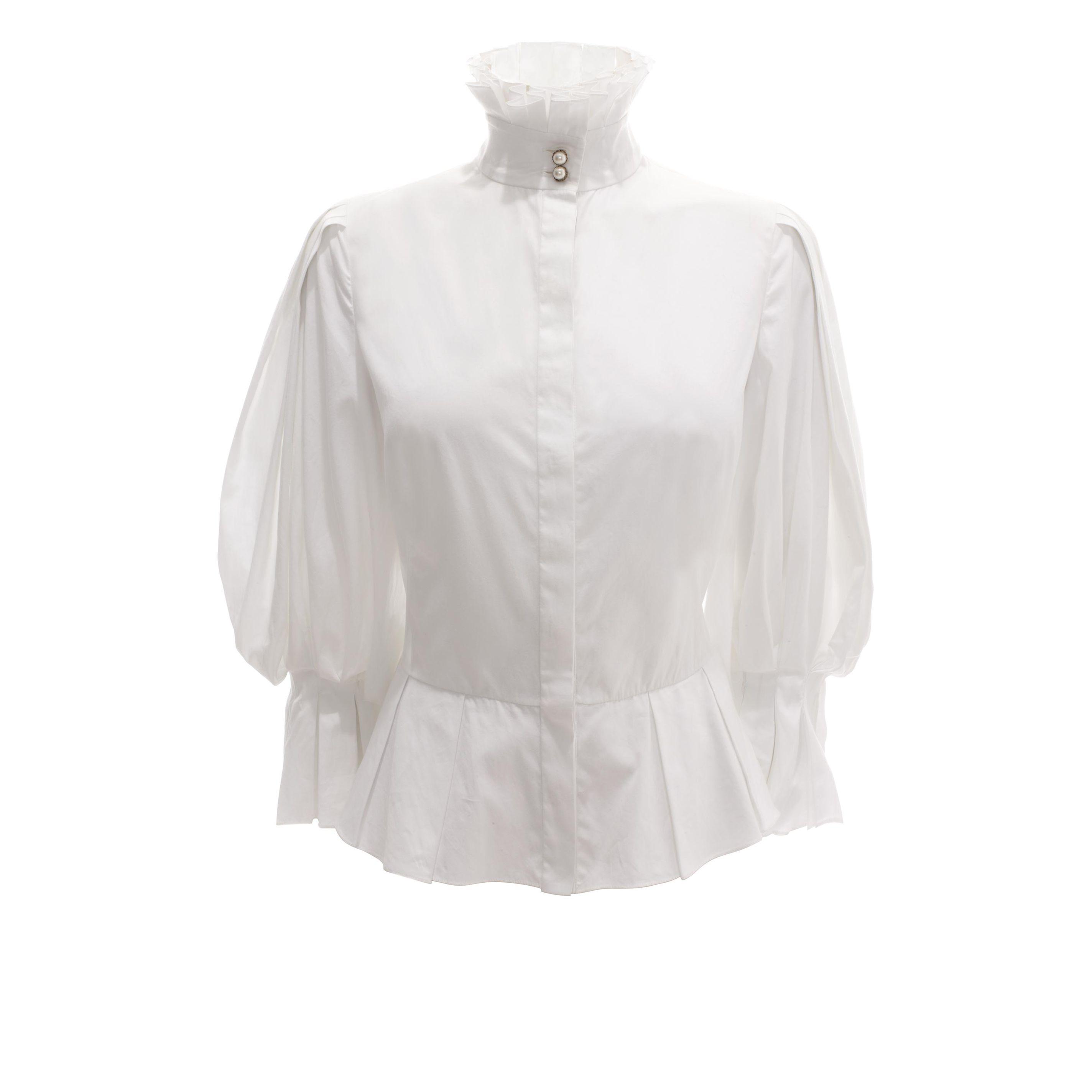 Chemise à basque plissée  alexander mcqueen
