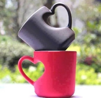 cup cute heart valentines day gift idea home accessory jewels bag coffee mug pink black girly