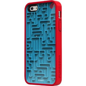 Amazon.com: Puregear Gamer Case for Apple iPhone 5 - Retail Packaging - Blue/Red: Cell Phones & Accessories