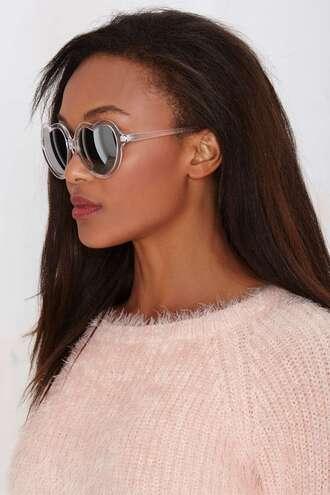 sunglasses heart heart sunglasses black girls killin it