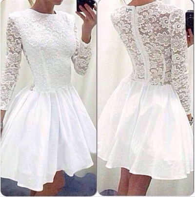5676fb52737 Long Sleeves Homecoming Dresses