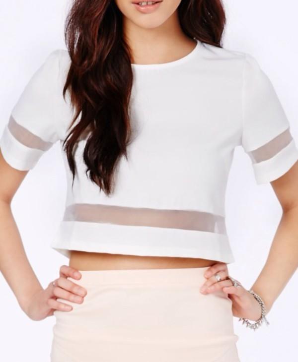 top crop tops mesh white shirt white top white mesh