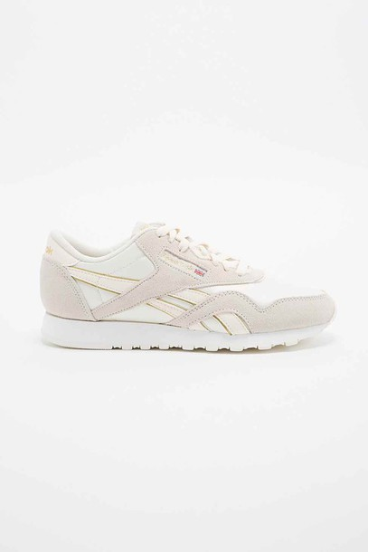 shoes or Reebok sneakers gold doré women classic reebok classic limited leather daim nylon 2015 urban outfitters nike nike shoes