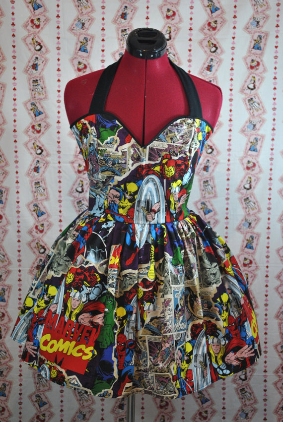 Breakthrough Marvel Comics Avengers Halter by CakeShopCouture
