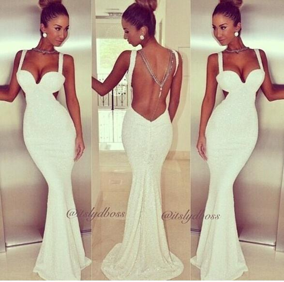 Fashion long cute shining dress high quality