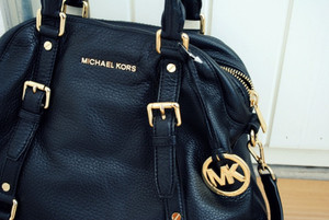bag michael kors handbag purse leather buckle