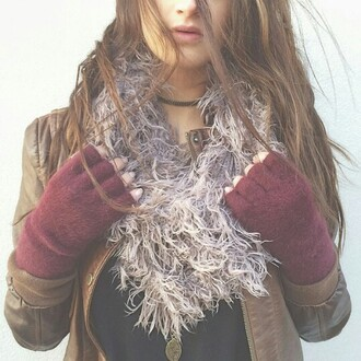scarf fluffy awesome!