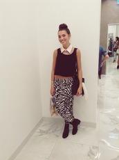 pants,zebra,print,large,shelby