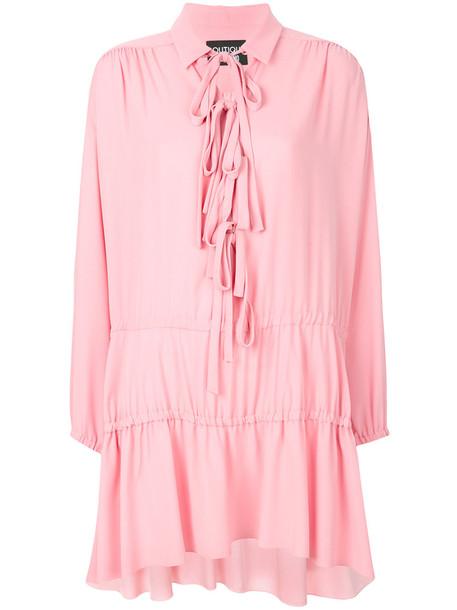 dress smock dress women purple pink