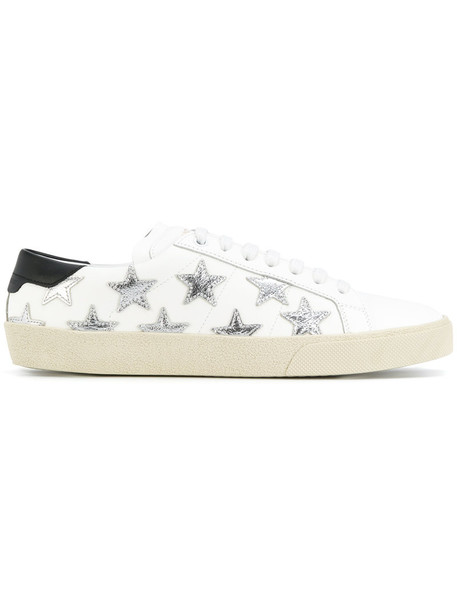 Saint Laurent women classic california sneakers leather white cotton shoes