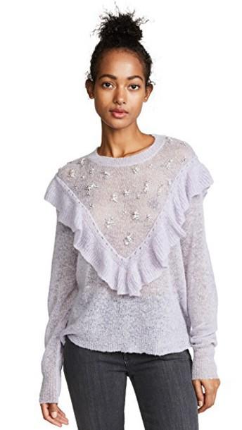 Wildfox sweater pale lavender