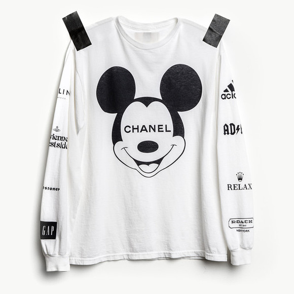 chanel adidas mickeymouse sweater