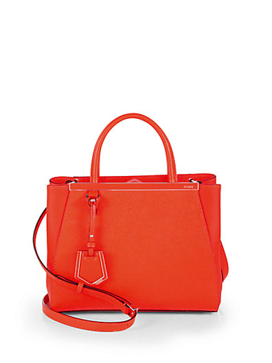 Fendi - 2Jours Petite Leather Shopper - Saks.com