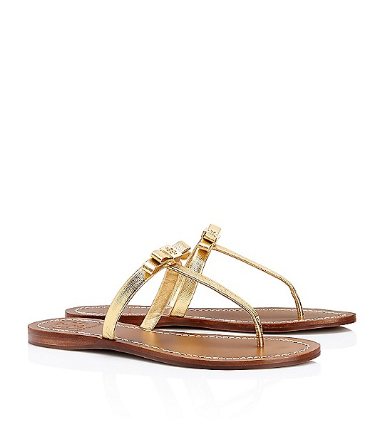 Tory Burch Leighanne Metallic Flat Thong Sandal  : Women's View All