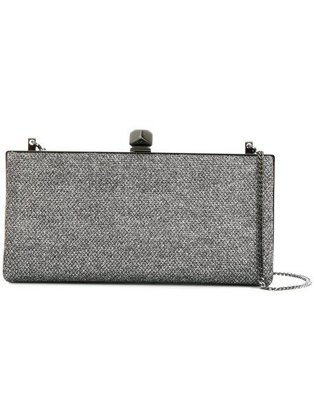 Jimmy Choo metallic women bag clutch grey