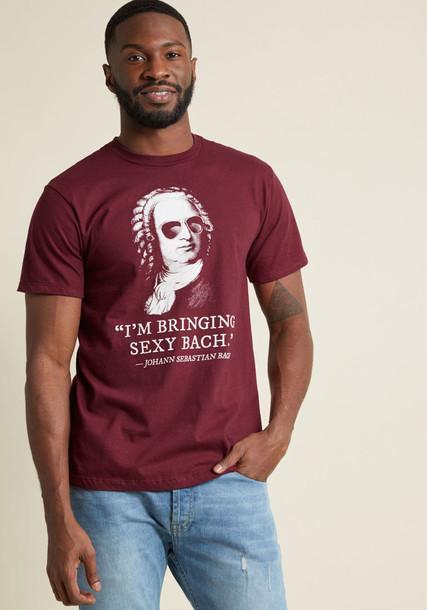 t-shirt shirt cotton t-shirt t-shirt rock music white cotton print burgundy top