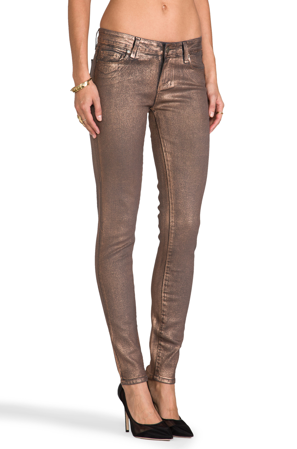 Paige Denim Verdugo Ultra Skinny in Rose Gold | REVOLVE